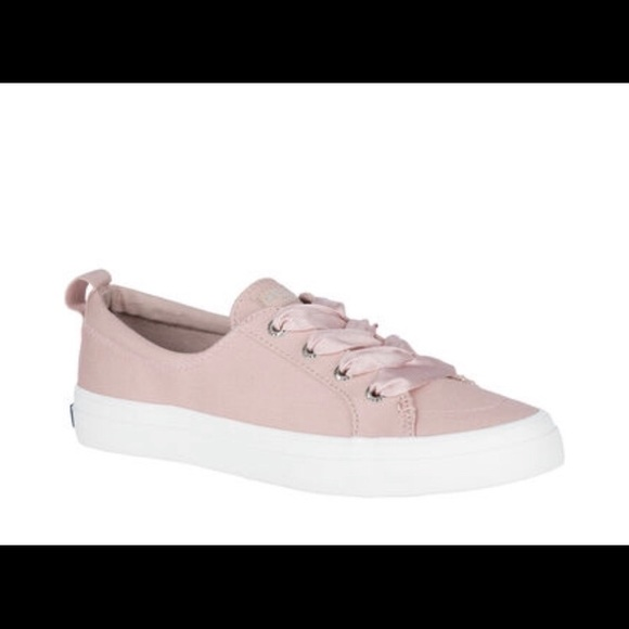 Sperry Shoes | Pink Sneakers With Satin